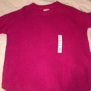 Pink Fall Sweater